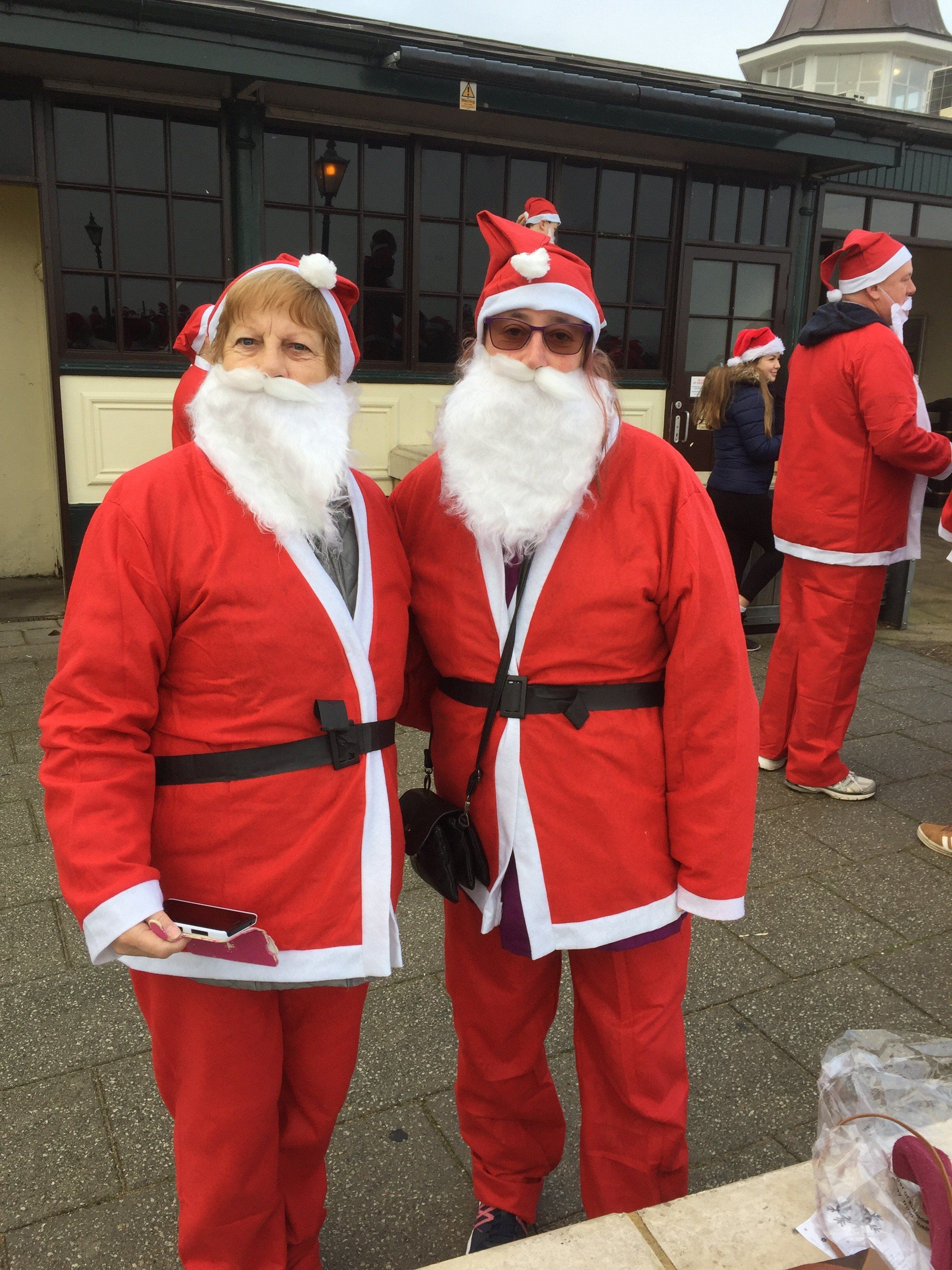 Cllrs dressed up as Santa